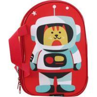 Lancheira Térmica Infantil Ó Design Espacial - Masculino-Vermelho