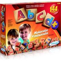 Abcd De 144 Peças De Madeira - Xalingo - Unissex-Incolor