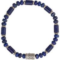 John Hardy Pulseira Classic Chain De Prata Com Lapis Lazuli