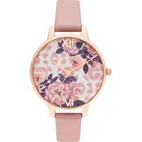 Relógio Olivia Burton Feminino Couro Rosa - Ob16Lp03