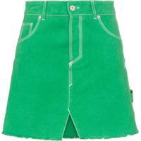 Heron Preston Saia Jeans Evasê Com Cintura Alta - Verde