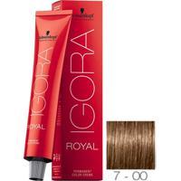 Coloração Schwarzkopf Igora Royal 7-00 Louro Médio Natural Extra 60G