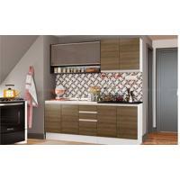 Cozinha Modulada Compacta Com 4 Módulos Talita Rustic/Preto - Glamy