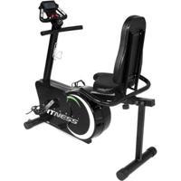 Bicicleta Ergométrica 8 Níveis Horizontal Magnética Academia - Unissex-Preto