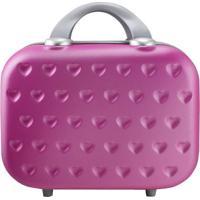Frasqueira Love- Rosa Escuro & Prateada- 26X31,5X14,Jacki Design