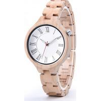 Relógio Madeira Dododeer-A14 Branco - Feminino