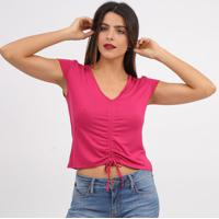 Blusa Com Franzidos- Rosa- Tritontriton