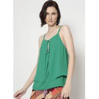 Blusa Com Sobreposição - Verde- Moiselemoisele