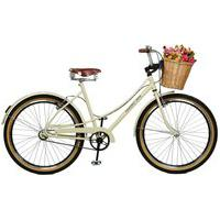 Bicicleta Master Bike Aro 26 Feminina Bella Retro Bege