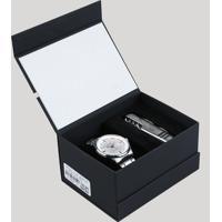 Kit De Relógio Analógico Orient Masculino + Canivete - Mbss1295 Kc22S1Sx Prateado - Único