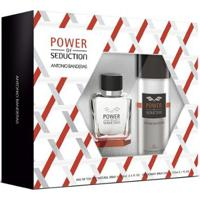 Antonio Banderas Power Of Seduction Kit - Eau De Toilette + Desodorante Kit - Masculino-Incolor