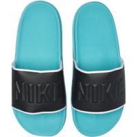 Chinelo Nike Offcourt - Slide - Masculino - Preto/Aqua