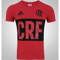 Camiseta Do Flamengo Adidas Gráfica - Masculina - Vermelho Preto 6b10ea73c99b5