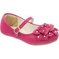 Sapato Boneca Com Flores - Pink- Luluzinhaluluzinha