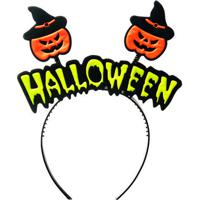 "Tiara ""Halloween""- Laranja & Preta- 19X23Cm- Crocromus"