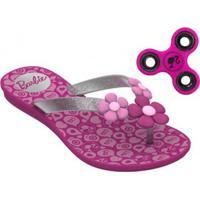 Sandália Rasteira Infantil Barbie Spinner Game + Brinde