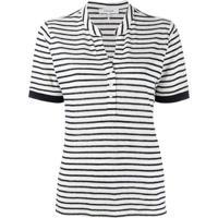 Frame Camisa Polo Com Listras - Branco