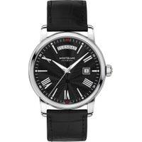 Relógio Montblanc Masculino Couro Preto - 115936