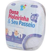 Travesseiro Anatã´Mico Para A Cabeã§A Do Beb㪠Dona Moleirinha E Seu Passeio - Brancoâ- Fibrasca - Branco - Dafiti