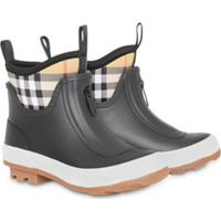 Burberry Kids Vintage Check Neoprene And Rubber Rain Boots - Preto