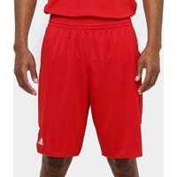 Bermuda Adidas Teamstock Masculina - Masculino-Vermelho