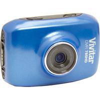 Câmera Filmadora Vivitar De Açáo Hd Com Caixa Estanque E Acessórios Azul - Tricae