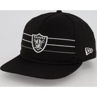 Boné New Era Nfl Oakland Raiders Preto E Cinza