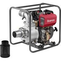 Motobomba A Diesel Branco Bd-700 10Cv Partida Manual