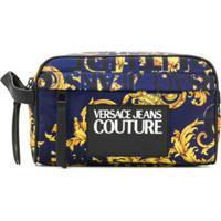 Versace Jeans Couture Necessaire Com Estampa Barroca E Logo - Azul