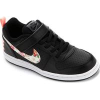 Tênis Infantil Nike Court Borough Low Feminino - Feminino-Preto+Pink