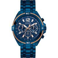 Relógio Guess Masculino Aço Azul - W1258G3