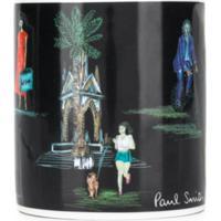 Paul Smith Caneca De Porcelana Com Estampa - Preto