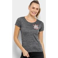 Camiseta Corinthians Fio Tinto Clever Feminina - Feminino-Mescla