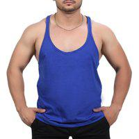 Camiseta Regata Super Cavada Academia Masculino Azul