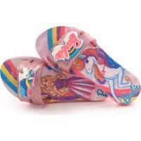 Chinelo Infantil Barbie Color Full