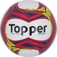 Bola Society Topper Trivela V12 - Branco Coral 98162f4562154