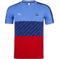 Camiseta Puma Bmw 596096 - Masculina - Azul/Vermelho