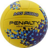 Bola De Vôlei Penalty Mg 3600 Ultra Fusion Viii - Amarelo/Azul Escuro