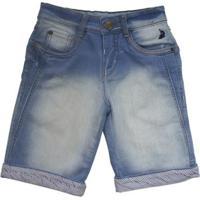Bermuda Jeans Infantil Squalo Masculino - Masculino