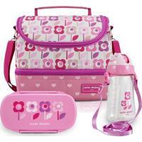 Conjunto Infantil Lanche Jacki Design Sapeka Feminina - Feminino-Rosa Escuro