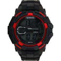 Relógio Speedo 65087G0Evnp3 Preto/Vermelho