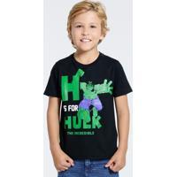 Camiseta Infantil Hulk Marvel