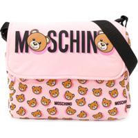 Moschino Kids Bolsa Tiracolo Com Estampa Teddybear - Rosa