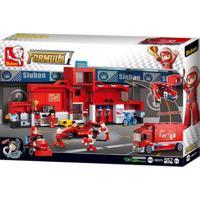 Blocos De Montar Modelo Caminhão Fórmula 1 De 557 Peças Indicado Para +6 Anos Vermelho Multikids - Br905 Br905
