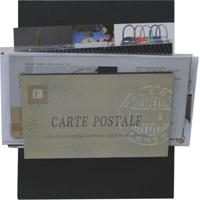 Porta-Correspondências Carte Postale 20X25 Preto Kapos