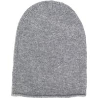 Allude Chunky Knit Beanie Hat - Cinza