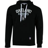 Blusão De Moletom Com Capuz New Era Oakland Raiders Core Canguru - Masculino - Preto
