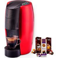 Máquina De Café Espresso Tres Lov Vermelha 220V Grátis 3 Caixas De Ca