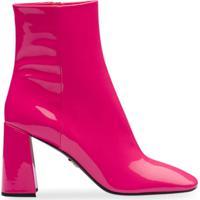Prada Bota Bico Quadrado - Rosa