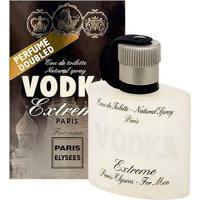 Vodka Extreme De Paris Elysees Eau De Toilette Masculino 100 Ml